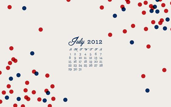 free july 2012 calendar wallpaper