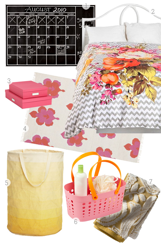 Heading to college this fall? Here are some stylish essentials to help you decorate your dorm room.