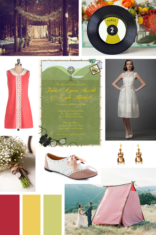 Moonrise Kingdom Wedding Inspiration and Idea Board