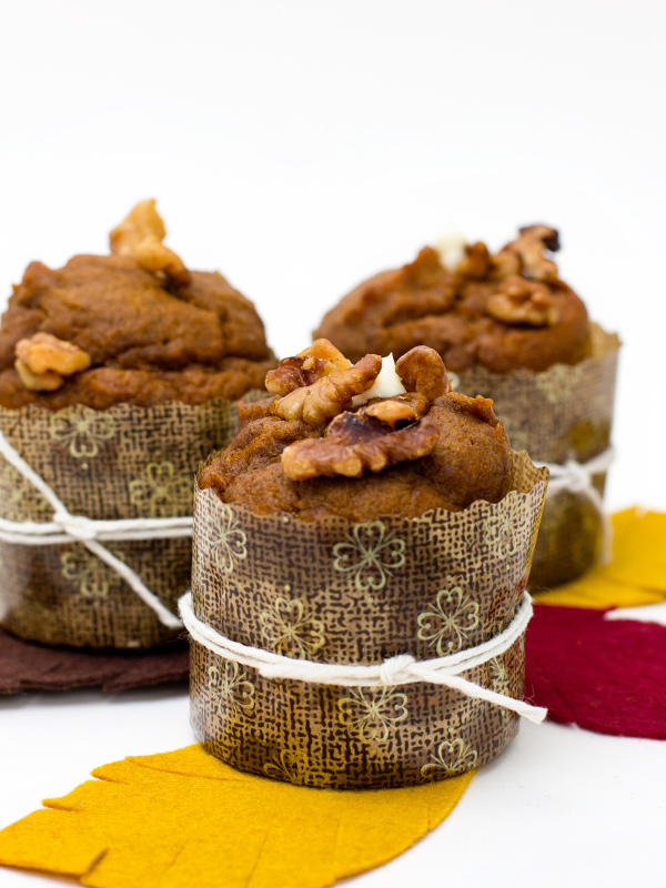 pumpkin muffins with cream cheese filling