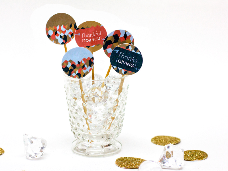 thanksgiving toothpicks cupcake toppers