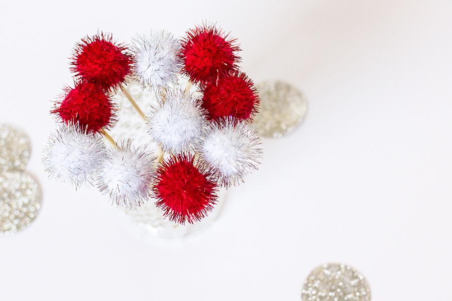 DIY Pom Pom Toothpicks from sarahhearts.com