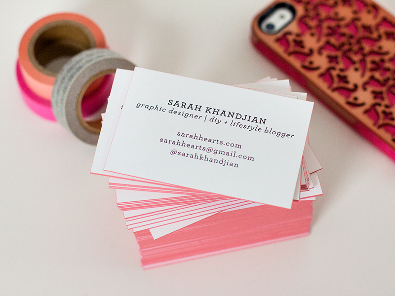 Diy edge painted business cards sarah hearts diy edge painted business cards by sarah hearts colourmoves
