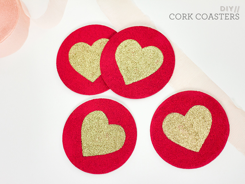 DIY Painted Cork Coasters by Sarah Hearts
