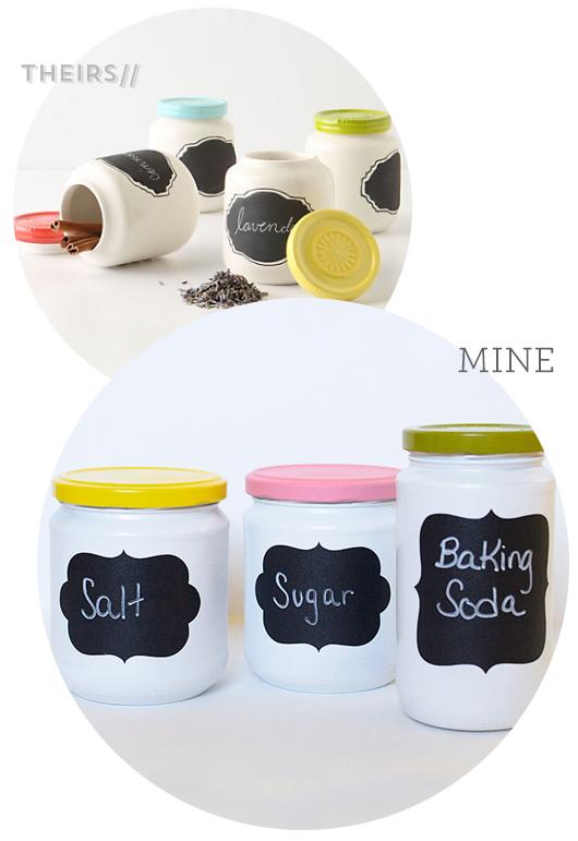 DIY Anthropologie Chalkboard Spice Jars by Sarah Hearts