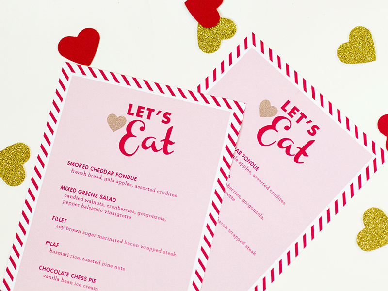 Valentine S Day Menu Template Sarah Hearts