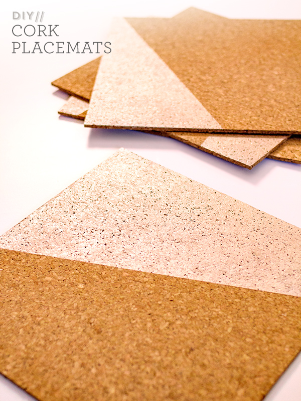 Diy Rose Gold Painted Cork Placemats Sarah Hearts