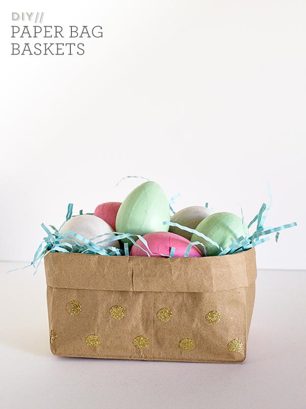 Sarah Hearts | DIY Paper Bag Easter Baskets