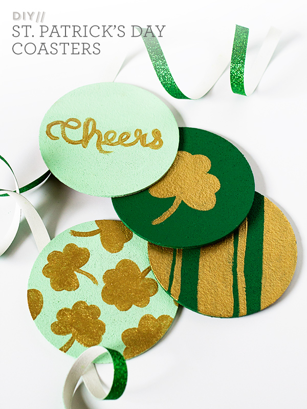 Sarah Hearts | DIY St. Patrick's Day Painted Cork Coasters