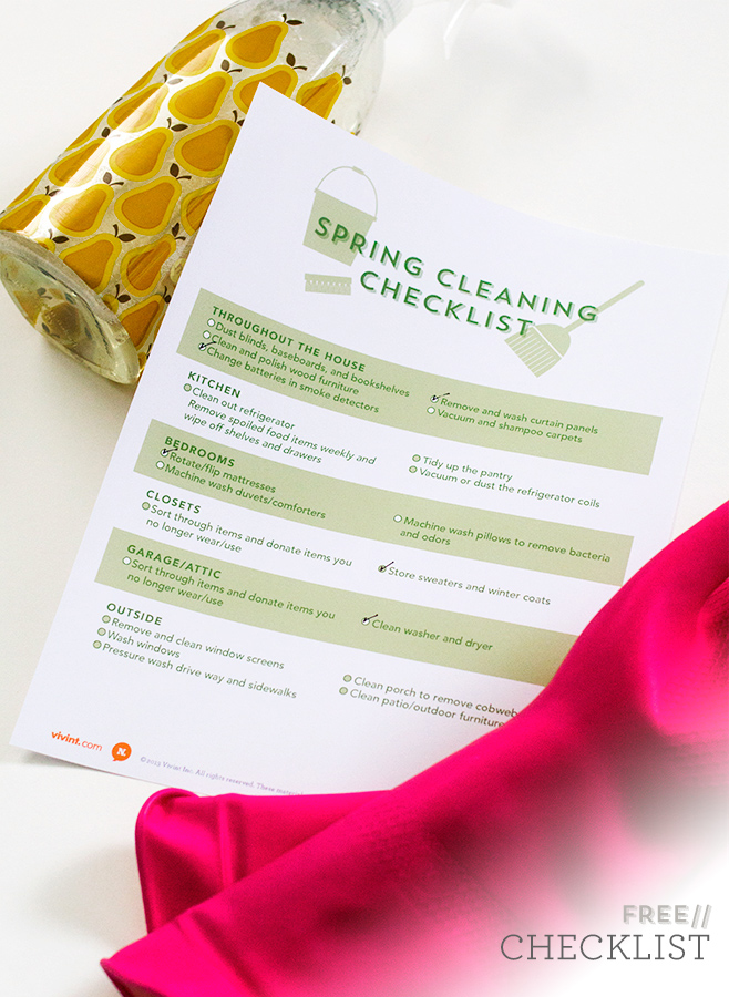 Printable Spring Cleaning Checklist | Sarah Hearts for The Neighborhood #letsneighbor