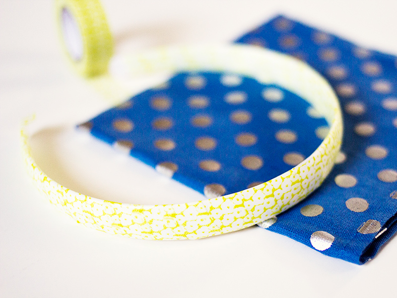 DIY Washi Tape Headband | Sarah Hearts