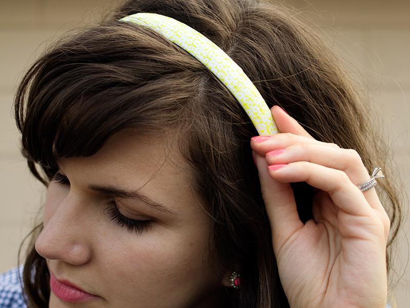 DIY Washi Tape Headband | Sarah Hearts