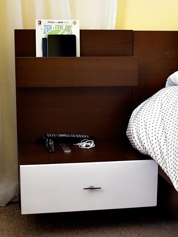 DIY Mid Century Modern Ikea Malm Bedside Table | Sarah Hearts