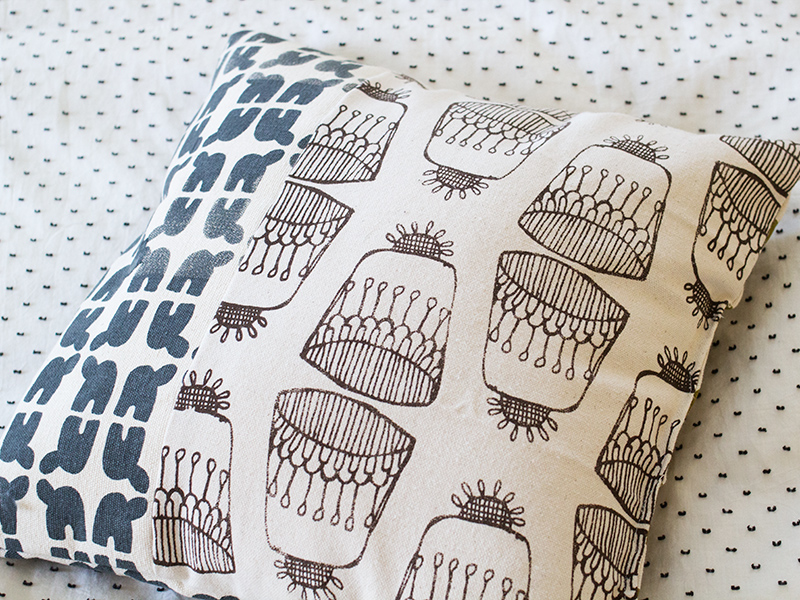 Hand Screen Printed Fabric Pillows | Sarah Hearts-5