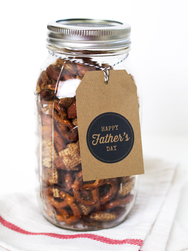 Make foodie dads this sweet and savory snack mix for Father's Day.