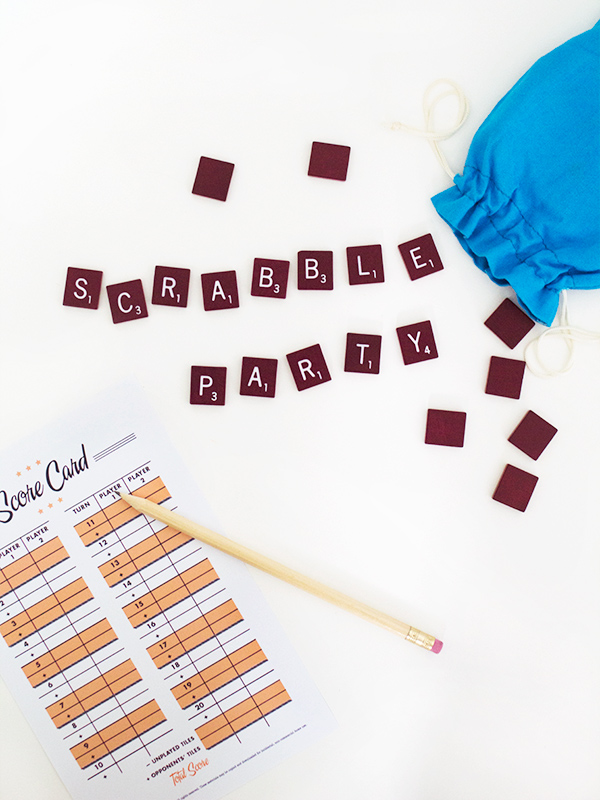 Printable Scrabble Score Card - Sarah Hearts