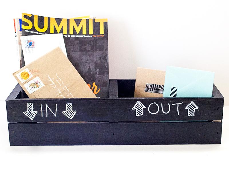 Chalkboard Crate 3 Ways | Sarah Hearts