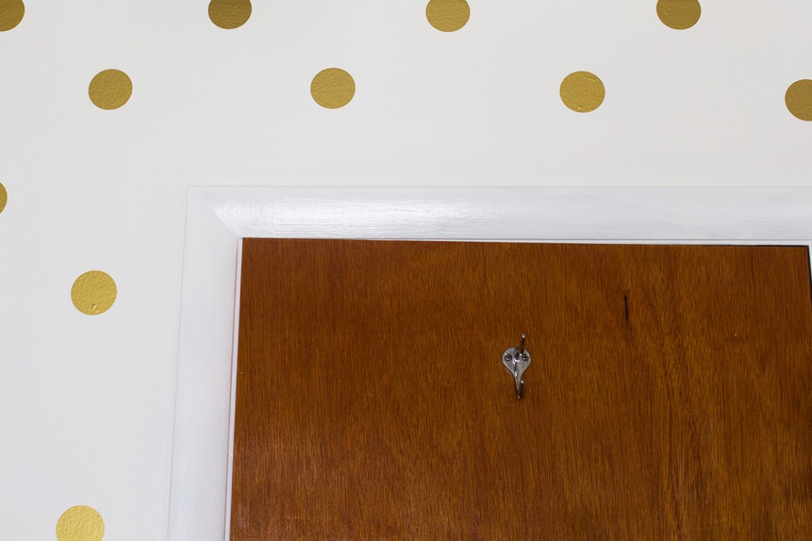 Gold Polka Dot Bathroom Walls | Sarah Hearts