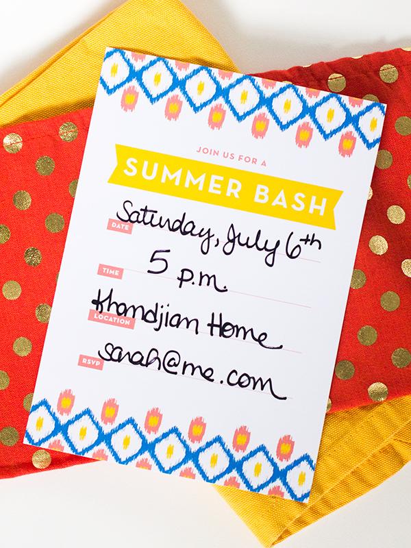Printable Ikat Summer Party Invitation | Sarah Hearts