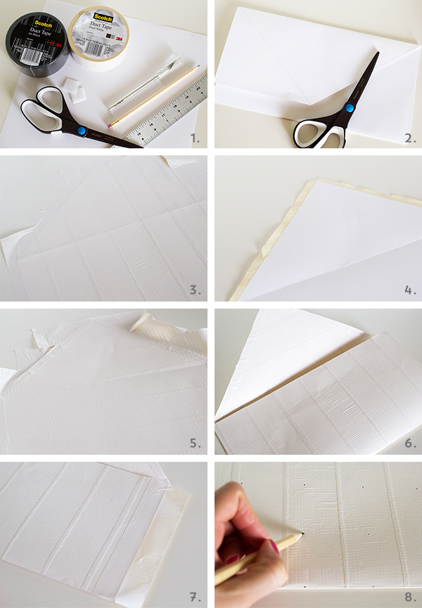 DIY Duct Tape Chevron Clutch Purse   Sarah Hearts
