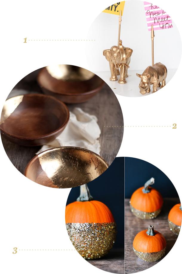 Links to Love | Animal Memo Holders, Gold Leaf Bowls, and Glittered Pumpkins