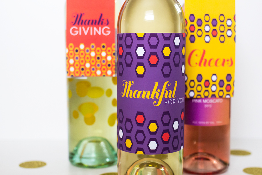 Printable Thanksgiving Wine Tags