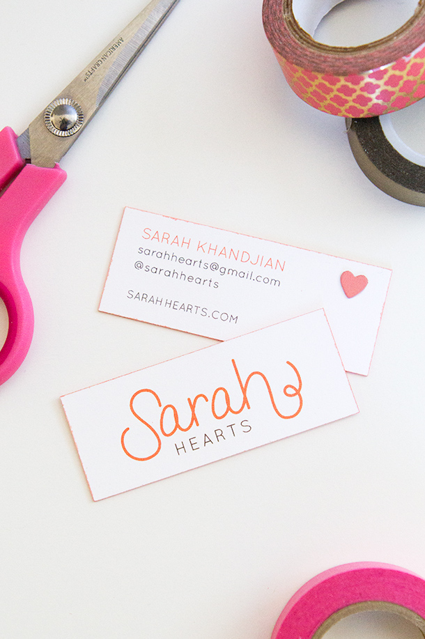 DIY Colored Edge Business Cards