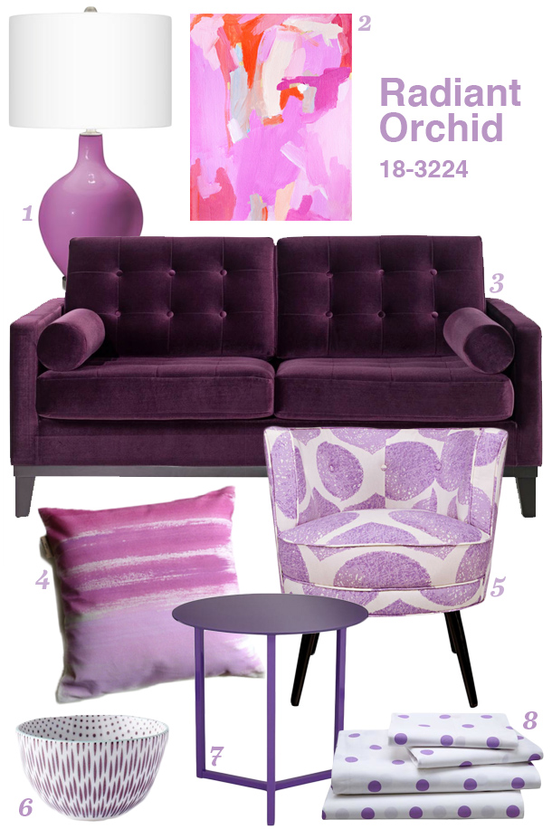 Radiant Orchid Home Inspiration