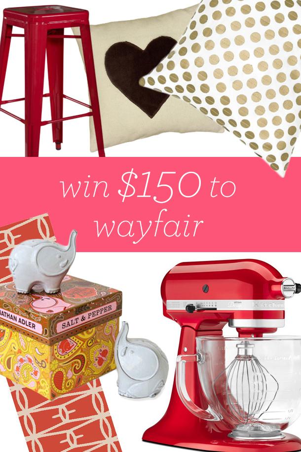 Win $150 to Wayfair #14daysoflove