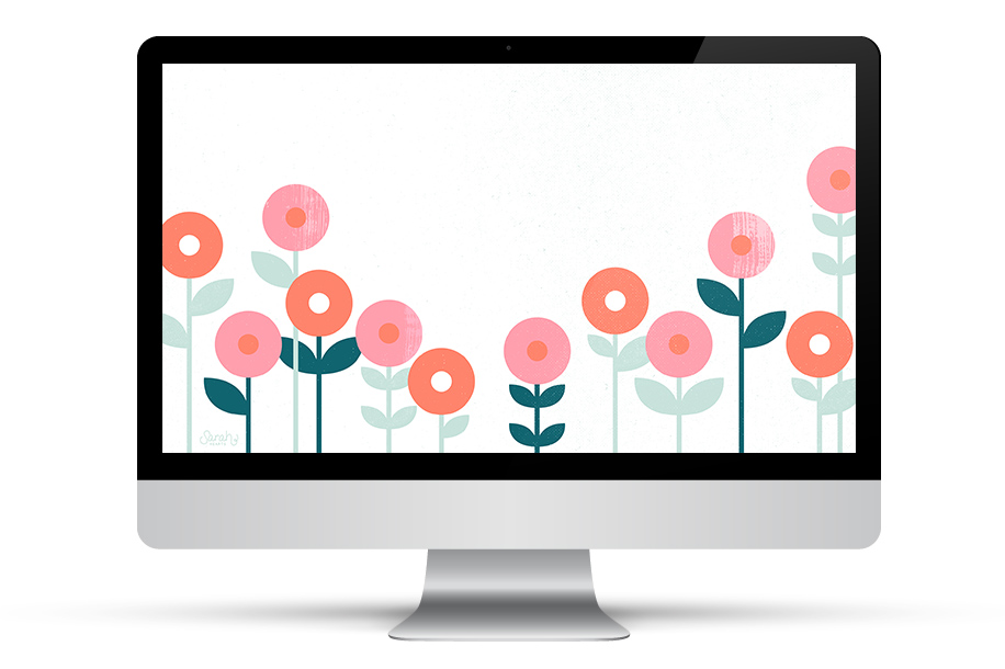 Dress up your phone, tablet and computer for spring with this free floral wallpaper!