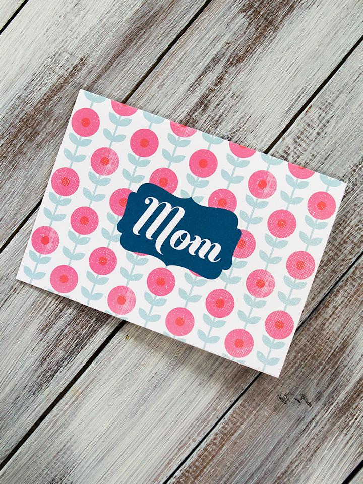 Send your mom a sweet note using this free printable Mother's Day card.