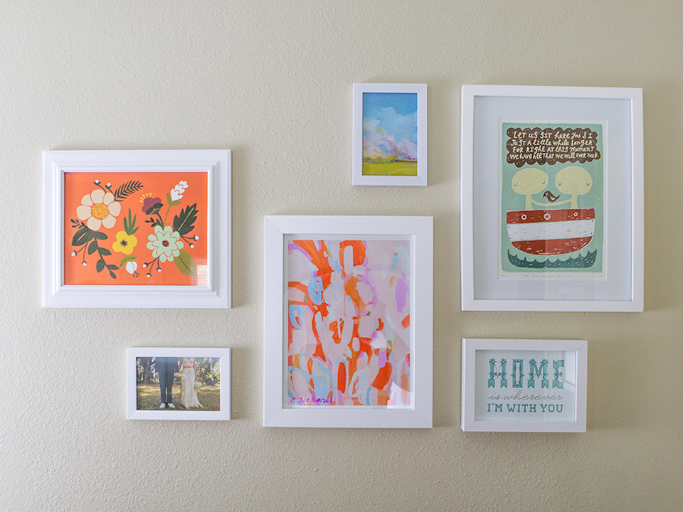 You don't need expensive are to create a stylish gallery wall! Most of these prints are found on Etsy.