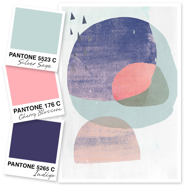 This color palette is inspired by art and would be perfect equally for a spring wedding or nursery decor.