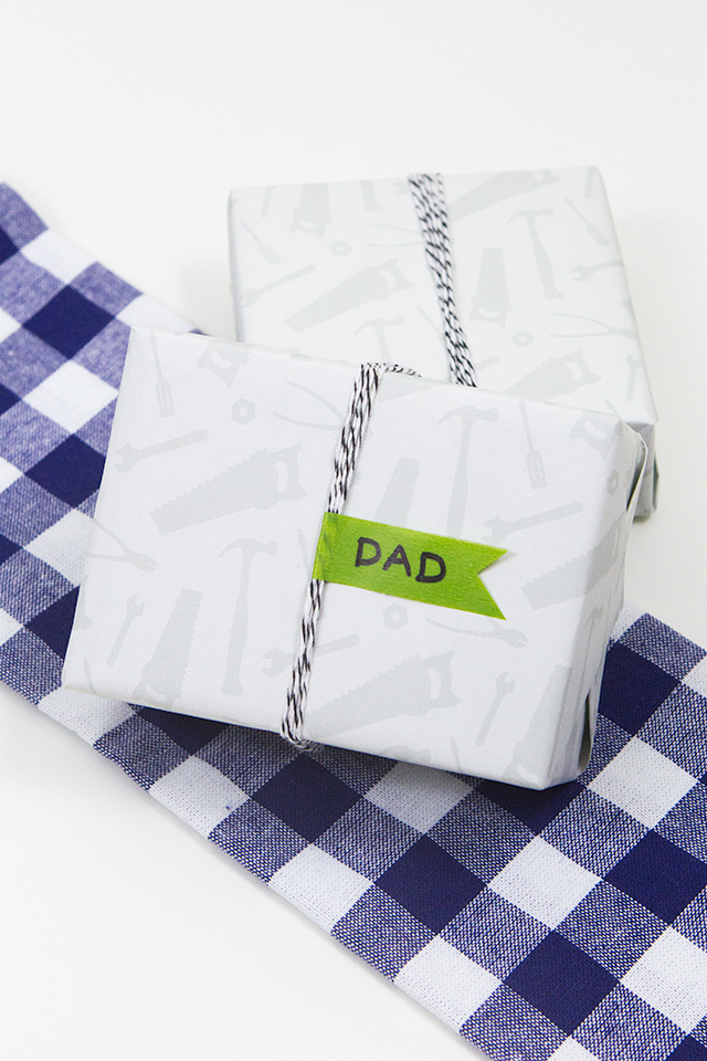Is your dad handy? Then wrap his Father's Day gifts in this free printable tool gift wrap.