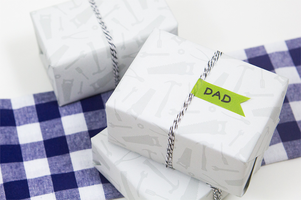 This free printable tool gift wrap is perfect for the handy man in your life. It's great for Father's Day gifts or any occasion!