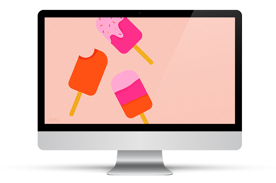 Dress up your tech with this juicy popsicle wallpaper. Click through to download for desktop and mobile devices.