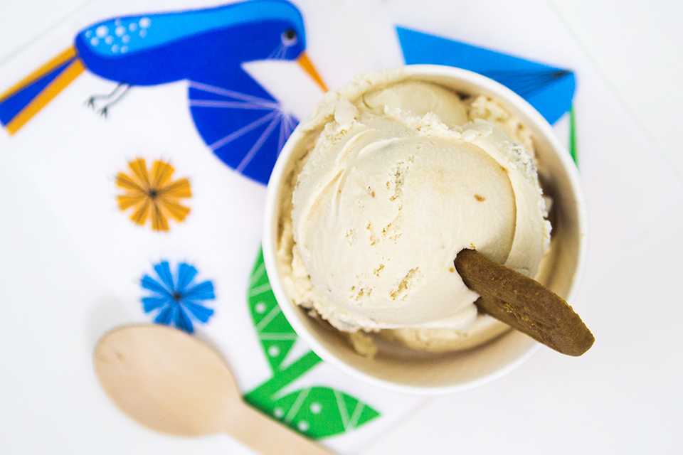 Love cookie butter? Than try this easy, no-cook ice cream recipe with your favorite kind of cookie butter swirled in.