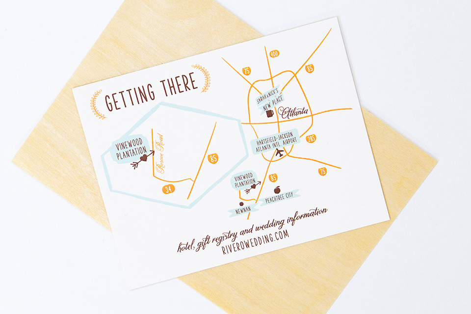 Include A Simple Map With Key Locations, Like The Ceremony And Reception  Venues And Even