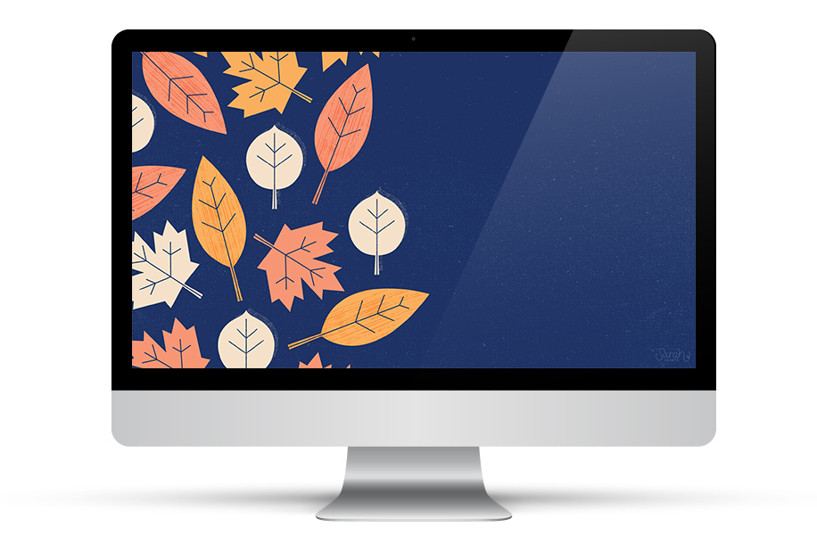 Don't have fall leaves where you live? You can still enjoy the season with the free modern fall leaf wallpaper.