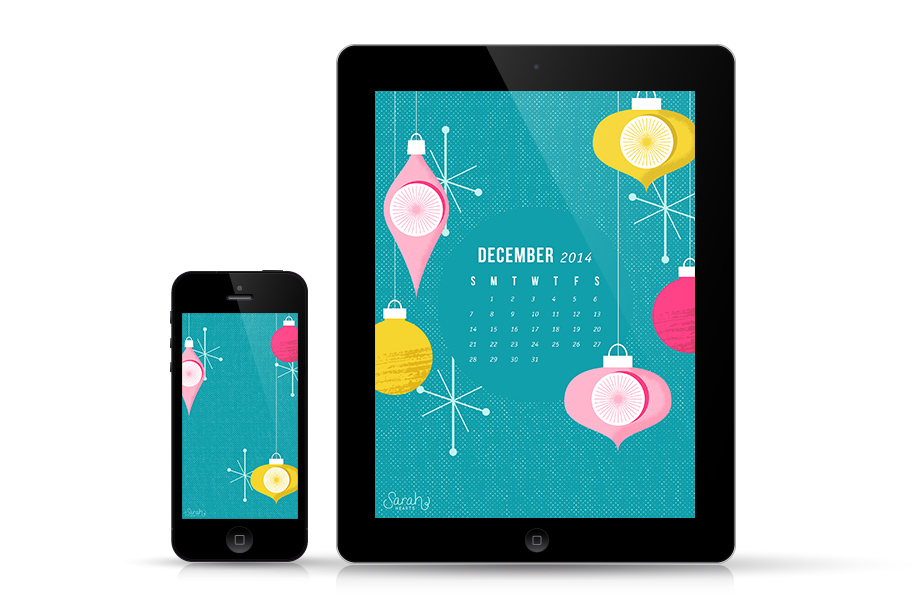 Tis the season to dress up your tech! Download this festive wallpaper for all your devices both with and without a December 2014 calendar.