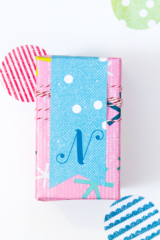 These free printable monogram gift tags are made using Avery Wraparound labels. Click through to download template for every letter.