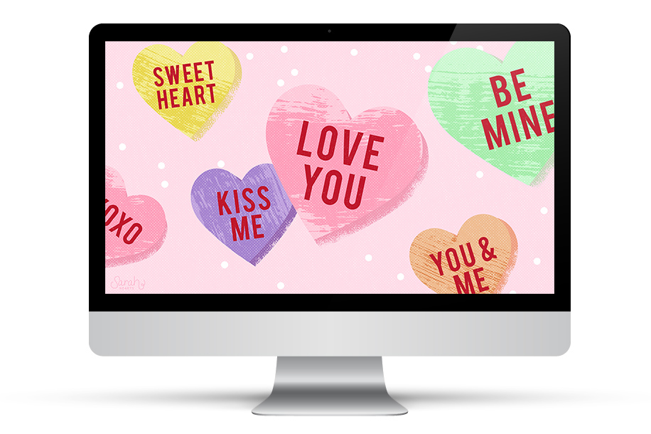 Get ready for Valentine's Day and dress up your tech with this free wallpaper. Available for your phone, tablet, and computer.