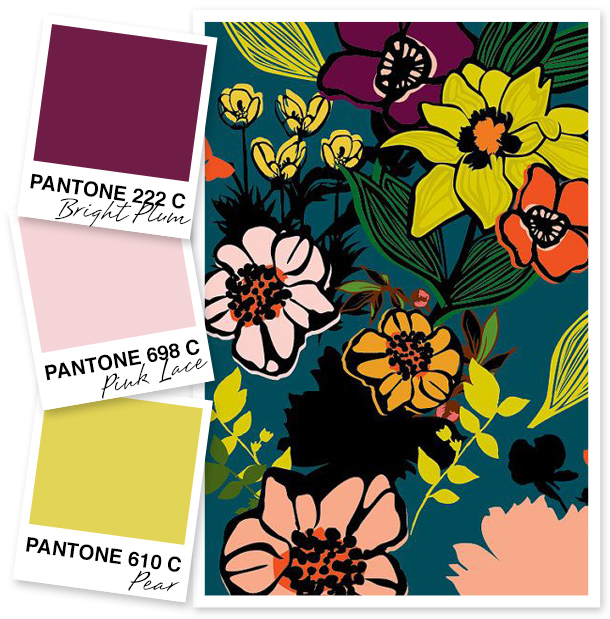 This plum, pink and pear color palette is so pretty!