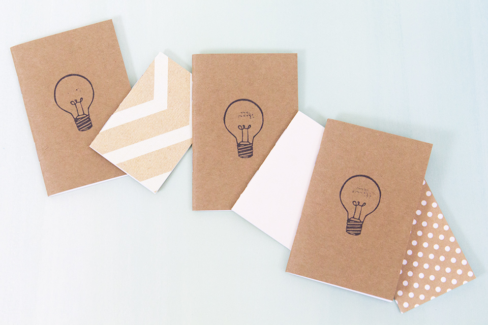 These handmade mini notebooks from Ordinary Artists are the perfect size to keep in your purse and jot down ideas on at a moments notice!