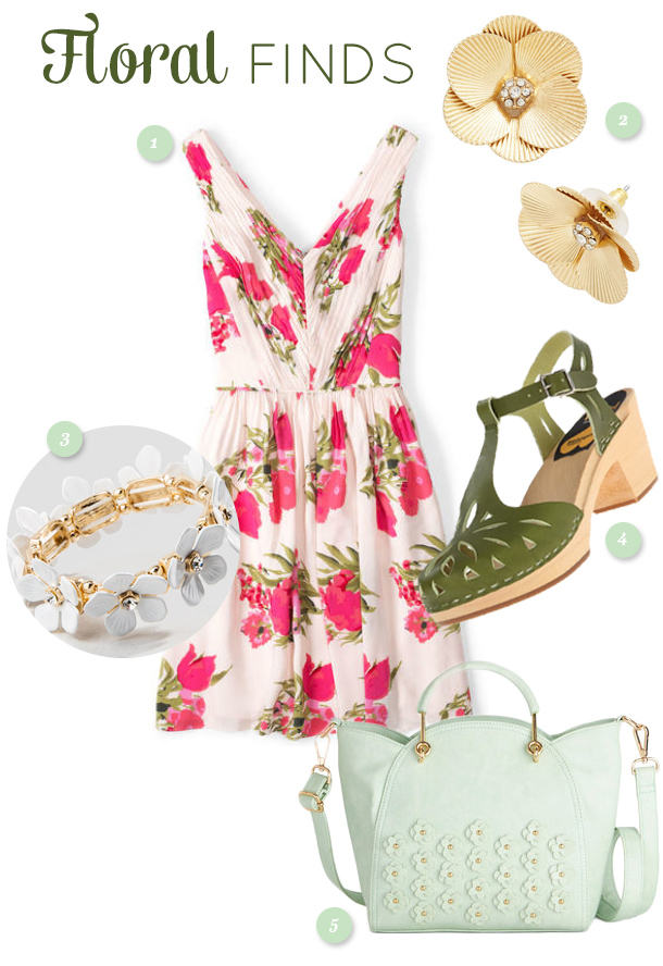 Get ready for spring and add some flower power to your wardrobe with one or more of these fun floral inspired pieces. (click through for links to each item)