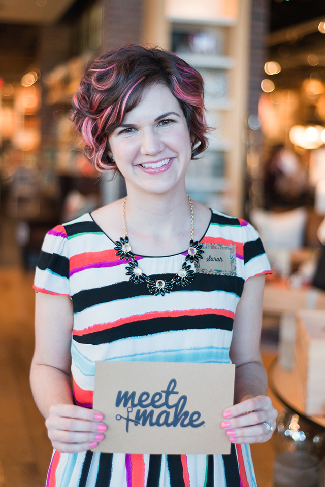 If you love creating something beautiful and making new friends then you have to attend Meet and Make! It's a craft workshop hosted by blogger Sarah Hearts in Orlando, Florida.