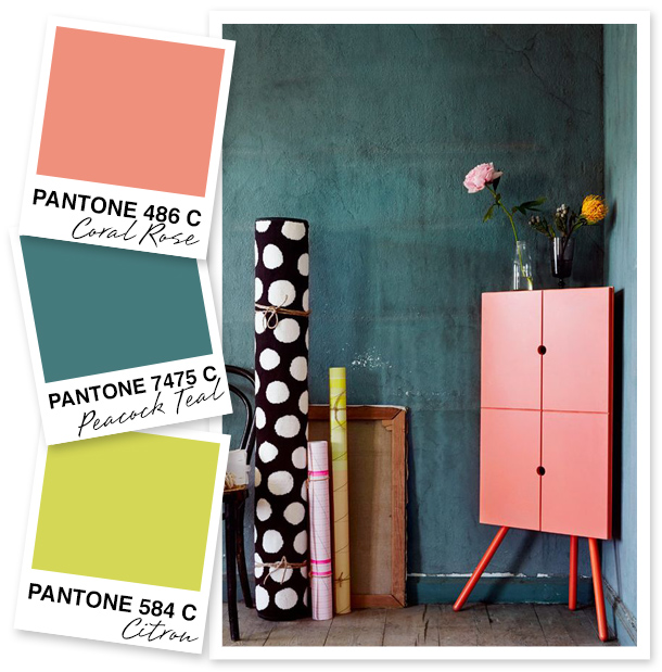 I'm loving the vibrance this color palette has to offer. This is a great way to use coral tones!