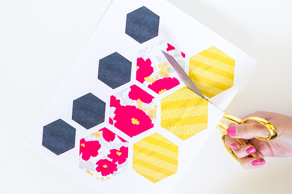 Print out these cute hexagons and use them to create your own geometric planter.
