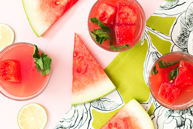 This watermelon punch looks so delicious! The addition of watermelon vodka makes it perfect for summer!