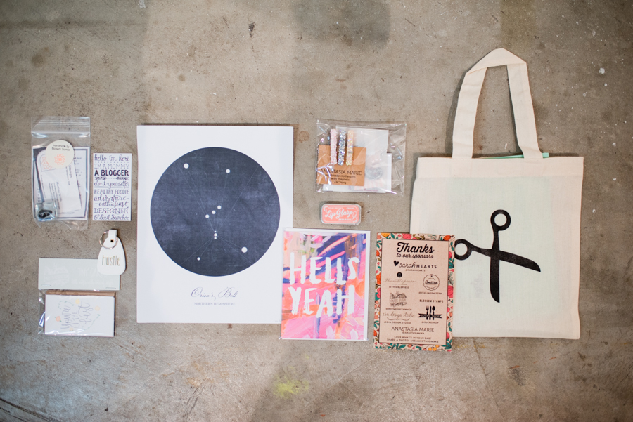 Every attendee of Meet and Make receives a swag bag full of carefully curated goods! #meetandmake